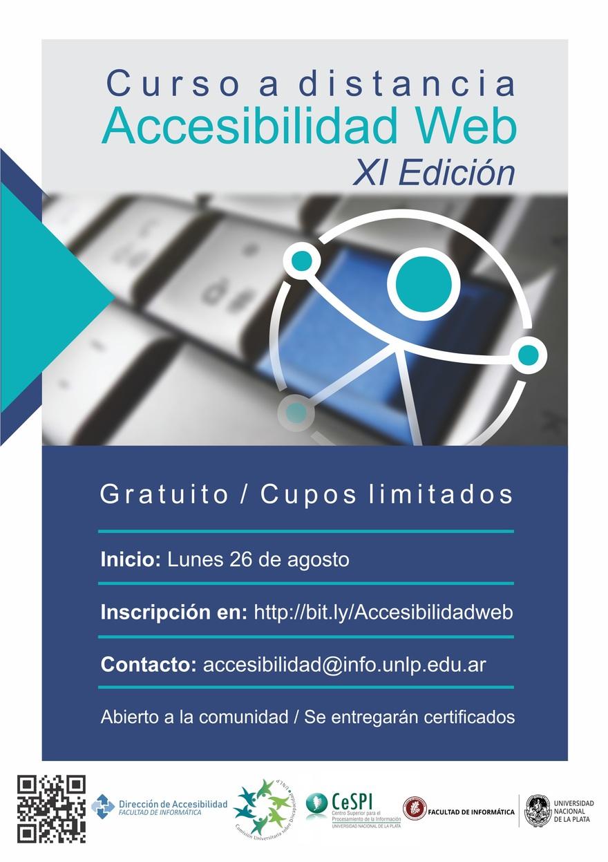 Flyer Curso de Accesibilidad Web