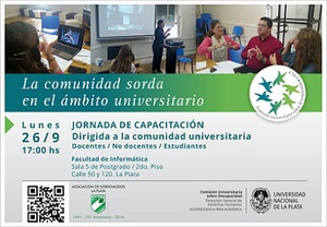 Jornada de capacitación sobre la comunidad sorda en el ámbito universitario