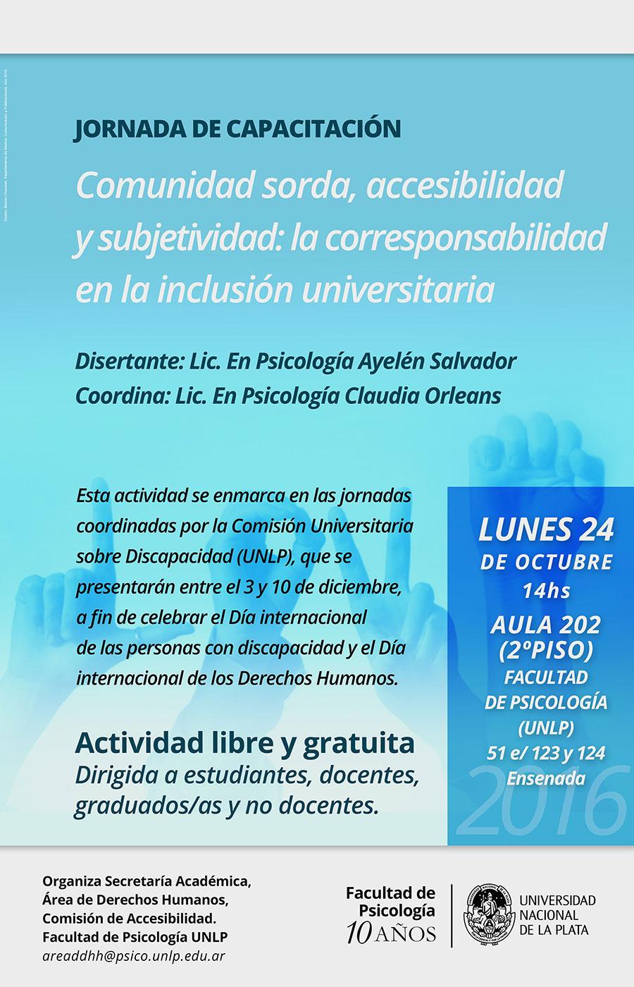 Poster Comunidad sorda, accesibilidad y subjetividad