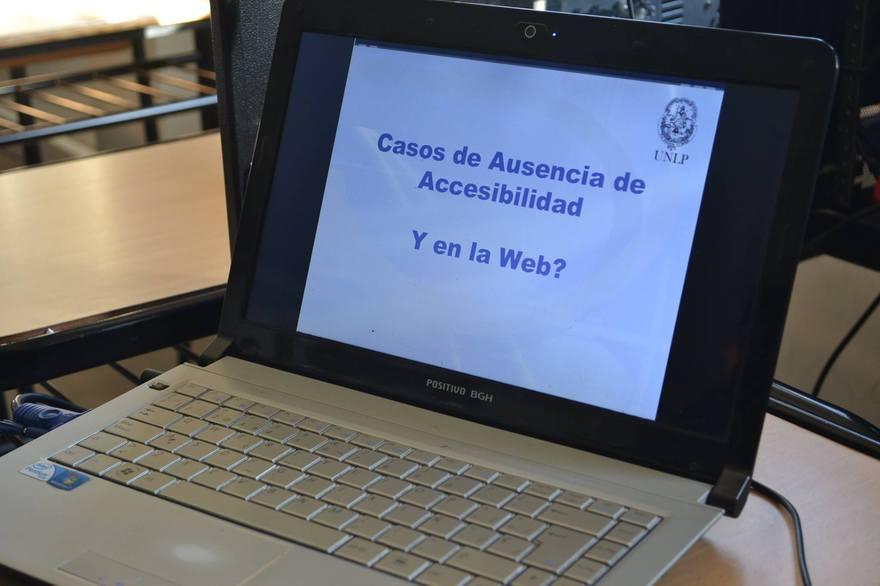 Se realizó la Jornada por una Web Inclusiva en la Facultad de Informática