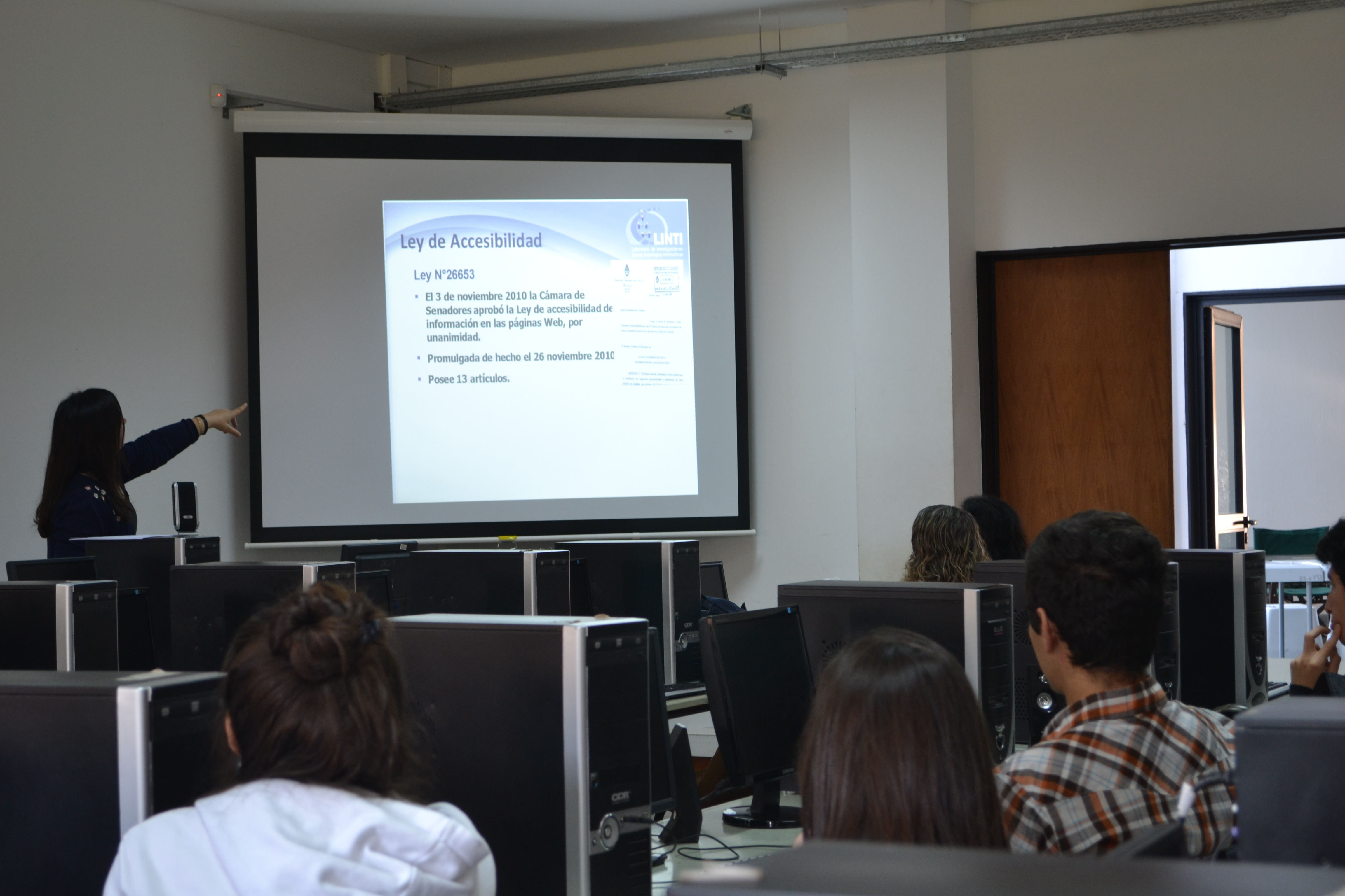 Se realizó una Jornada sobre Accesibilidad Web en la Facultad de Informática